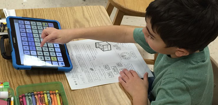 Child Typing With TouchChat App